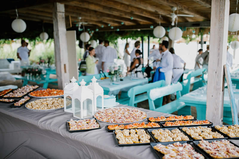 image of table with food served for a wedding