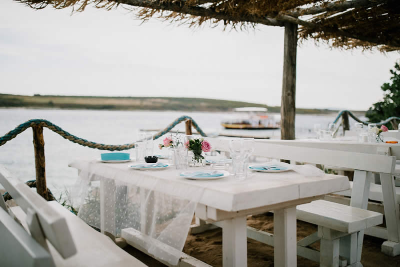 island Levan wedding view from table