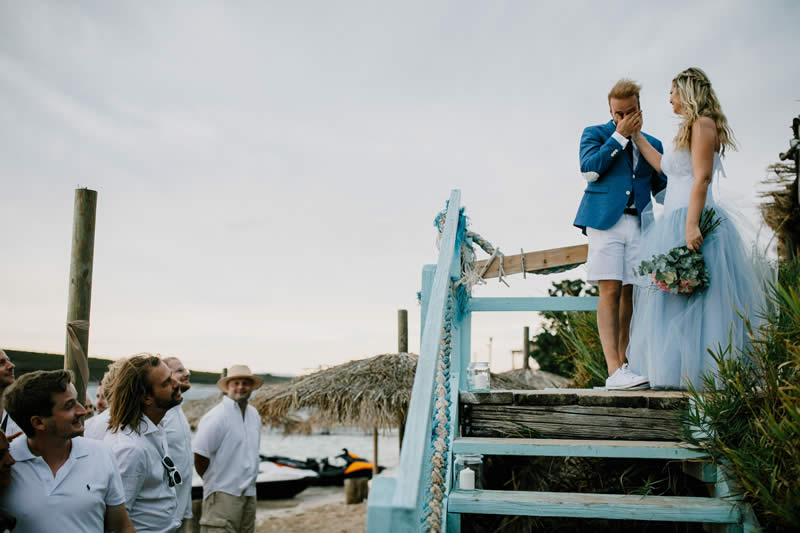Marea stairs beach wedding croatia