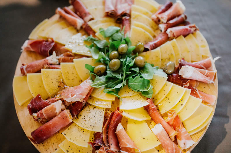 prosciutto and cheese platters